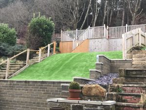 Artificial Grass on incline